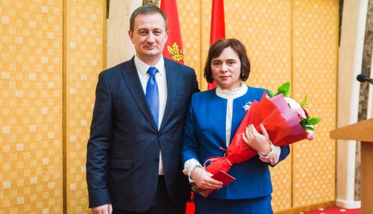 Жительнице Воложина вручили орден Матери.